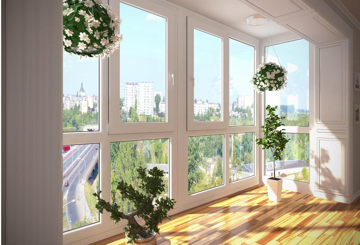 Пластиковые окна в интерьере фото
